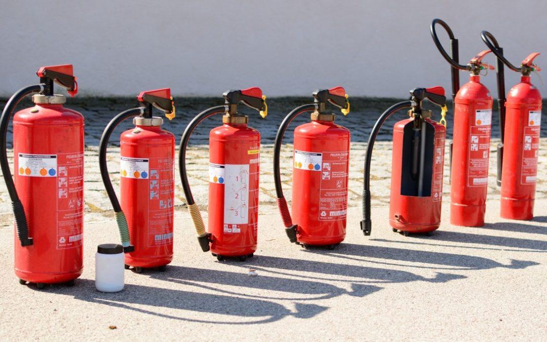 Rodzaje gaśnic przeciwpożarowych